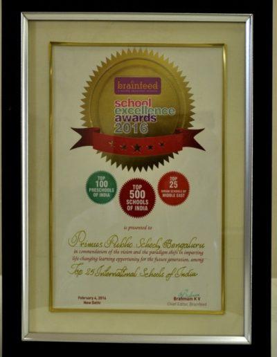 Top 25 International School of India Awards 2016