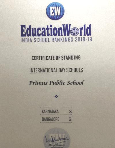 Education World - India School Rankings 2018-19